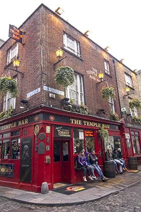 The Temple Bar, Dublin.